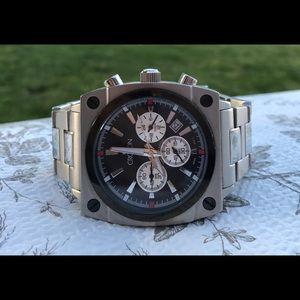 Men's Croton Chronomaster Stainless Wrist Watch